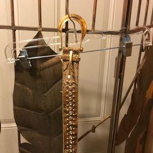 Guess belt with bling.